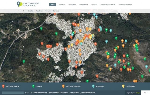 Mapa de la web de cartografias sensibles