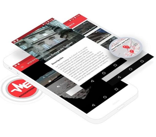 3 vistas de la app Vigo experience