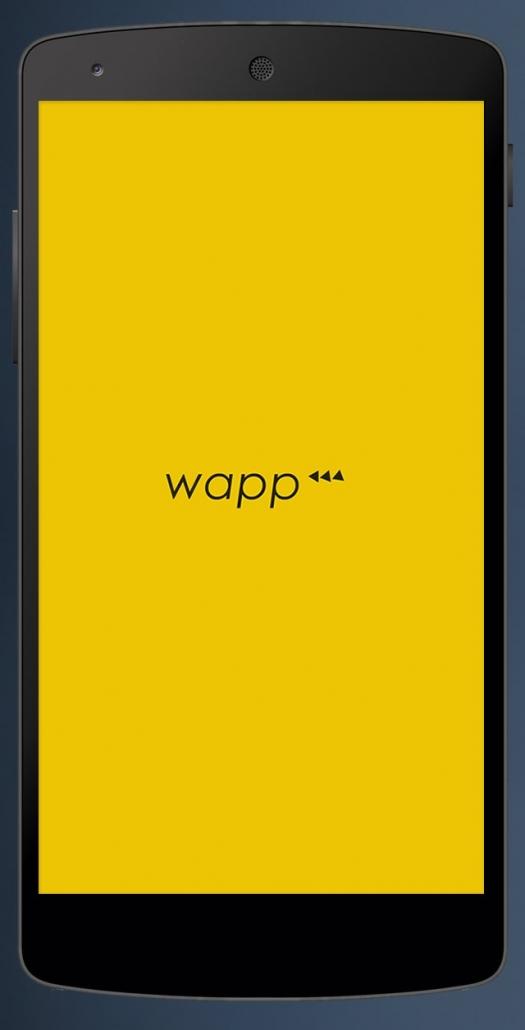 splash screen de la app Wapp