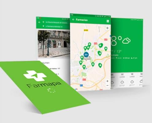 Farmapa 4 vistas de la app
